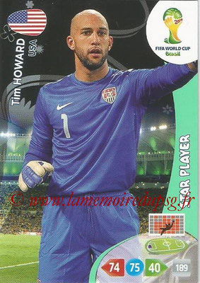 2014 - Panini FIFA World Cup Brazil Adrenalyn XL - N° 317 - Tim HOWARDS (Etats-Unis) (Star Player)