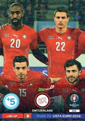 Panini Road to Euro 2016 Cards - N° 233 - Equipe Suisse 2
