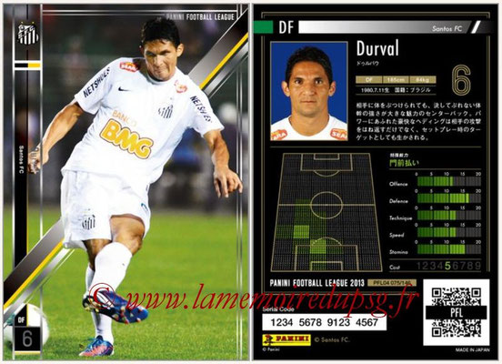 Panini Football League 2013 - PFL04 - N° 075 - DURVAL (Santos FC)