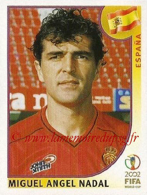2002 - Panini FIFA World Cup Stickers - N° 102 - Miguel Angel NADAL (Espagne)