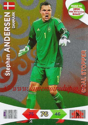 2014 - Panini Road to FIFA World Cup Brazil Adrenalyn XL - N° 209 - Stephan ANDERSEN (Danemark) (Goal Stopper)