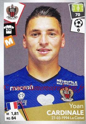 2017-18 - Panini Ligue 1 Stickers - N° 339 - Yoan CARDINALE (Nice)
