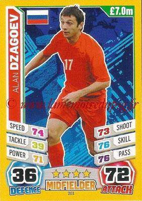 Topps Match Attax England 2014 - N° 201 - Alan DZAGOEV (Russie)