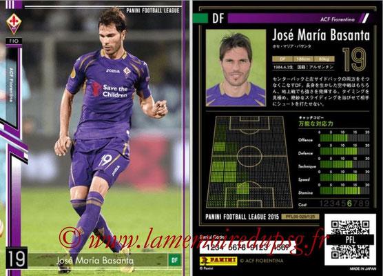 Panini Football League 2015 - PFL09 - N° 029 - José Maria BASANTA (Fiorentina)
