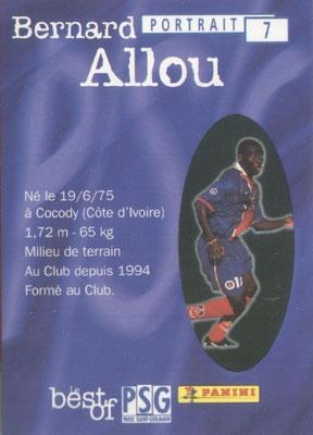 N° 007 - Bernard ALLOU (Verso)