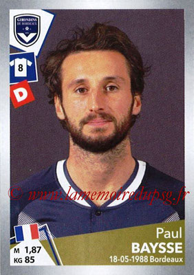 2017-18 - Panini Ligue 1 Stickers - N° T08 - Paul BAYSSE (Bordeaux) (Transfert)