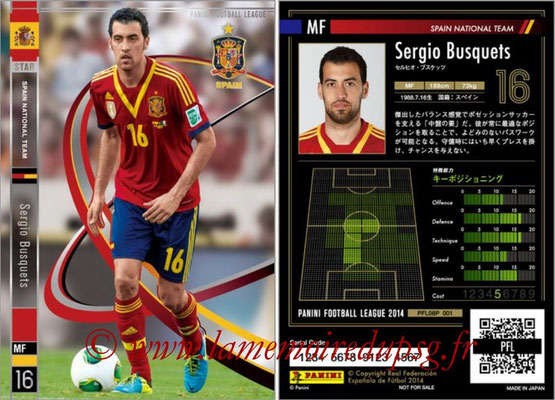 Panini Football League 2014 - PFL08P - N° 001 - Sergio BUSQUETS (Espagne) (Star)