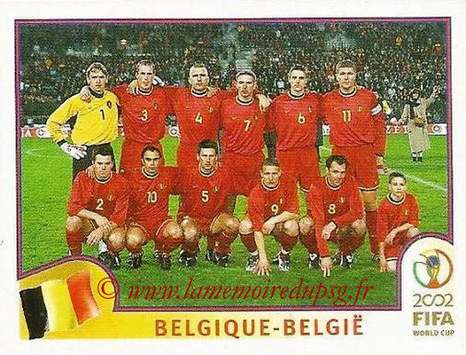2002 - Panini FIFA World Cup Stickers - N° 549 - Equipe Belgique