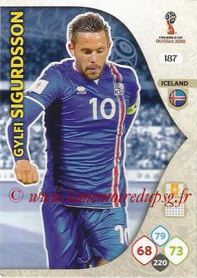 2018 - Panini FIFA World Cup Russia Adrenalyn XL - N° 187 - Gylfi SIGURDSSON (Islande)