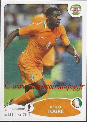 2014 - Panini Road to FIFA World Cup Brazil Stickers - N° 387 - Kolo TOURE (Côte d'Ivoire)