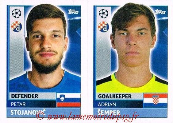 2016-17 - Topps UEFA Champions League Stickers - N° QFC 3-4 - Adrian SEMPER + Petar STOJANOVIC (GNK Dynamo Zagreb)