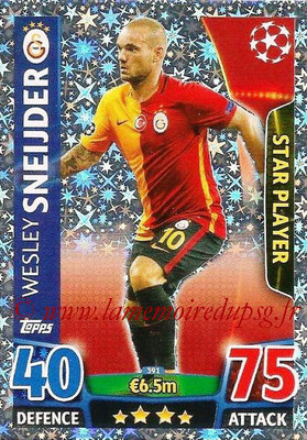 2015-16 - Topps UEFA Champions League Match Attax - N° 391 - Wesley SNEIJDER (Galatasaray AS) (Star Player)