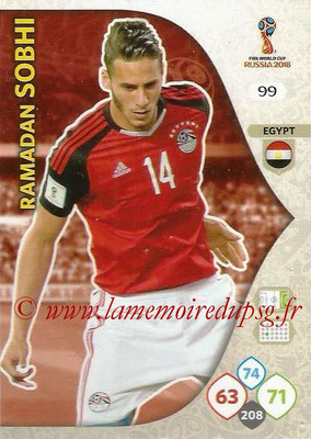 2018 - Panini FIFA World Cup Russia Adrenalyn XL - N° 099 - Ramadan SOBHI (Egypte)