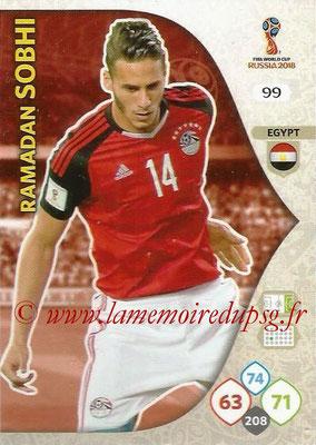 2018 - Panini FIFA World Cup Russia Adrenalyn XL - N° 099 - Ramadan SOBHI (Egypte)