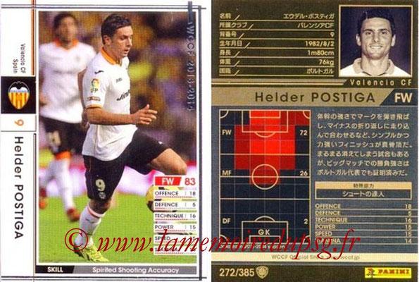 2013-14 - WCCF - N° 272 - Helder POSTIGA (FC Valence)