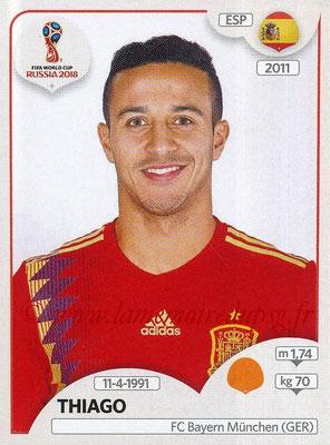 2018 - Panini FIFA World Cup Russia Stickers - N° 142 - THIAGO (Espagne)