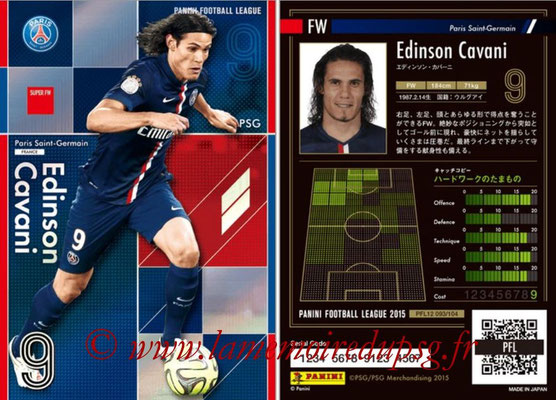Panini Football League 2015 - PFL12 - N° 093 - Edinson CAVANI (Paris Saint-Germain) (Super FW)