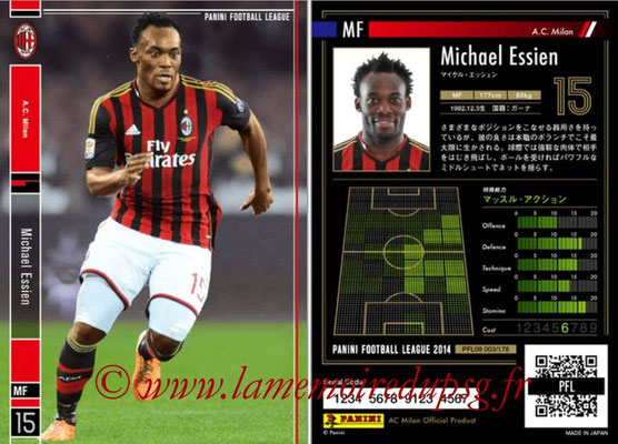 Panini Football League 2014 - PFL08 - N° 003 - Michael ESSIEN (Milan AC)