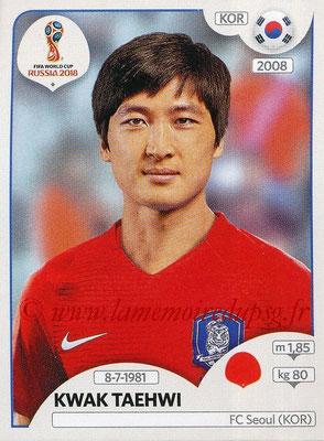 2018 - Panini FIFA World Cup Russia Stickers - N° 497 - Kwak TAEHWI (Corée du Sud)