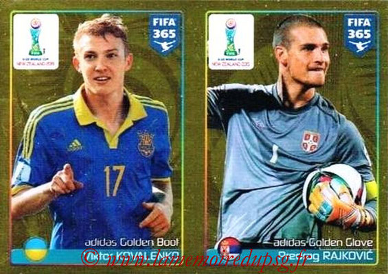 2015-16 - Panini FIFA 365 Stickers - N° 052 - Viktor KOVALENKO (Golden Boot) + Predrag RAJKOVIC (Golden Glove) (FIFA U20 World Cup)