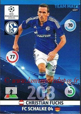 2014-15 - Adrenalyn XL champions League Update edition N° UE077 - Christian FUCHS (FC Schalke 04)