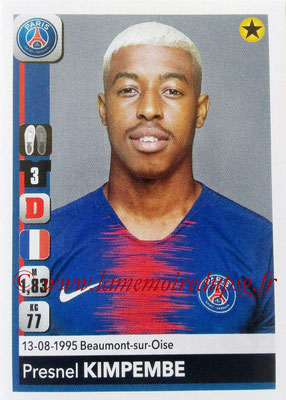 2018-19 - Panini Ligue 1 Stickers - N° 357 - Presnel KIMPEMBE (Paris Saint-Germain)