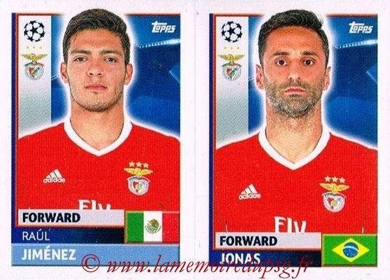 2016-17 - Topps UEFA Champions League Stickers - N° BEN 18-19 - JONAS+ Raù JIMENEZ (SL BenFica)