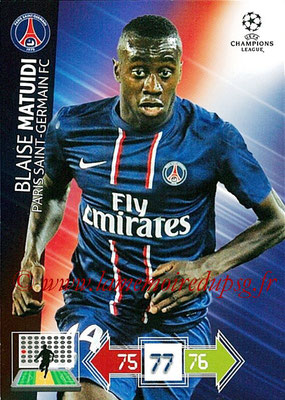 2012-13 - Adrenalyn XL champions League N° 212 - Blaise MATUIDI (Paris Saint-Germain)