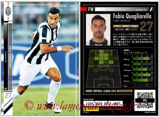 Panini Football League 2013 - PFL02 - N° 016 - Fabio Quagliarella ( Juventus FC )