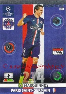 2014-15 - Adrenalyn XL champions League N° 206 - MARQUINHOS (Paris Saint-Germain)  (Rising star)