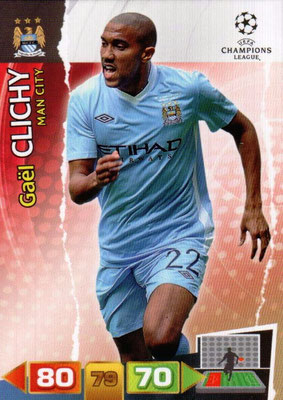 2011-12 - Panini Champions League Cards - N° 132 - Gaël CLICHY (Manchester City FC)