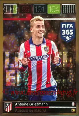 2015-16 - Panini Adrenalyn XL FIFA 365 - N° LE-AG - Antoine GRIEZMANN (Atletico Madrid) (Limited Edition)