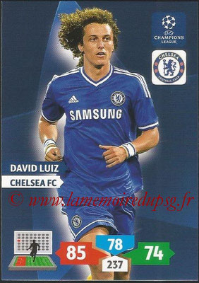 2013-14 - Adrenalyn XL champions League N° 119 - David LUIZ (Chelsea FC)
