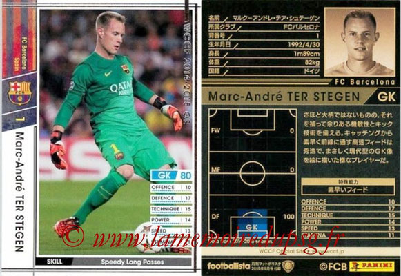 2014-15 - WCCF - N° EXT02 - Marc-André TER STEGEN (FC Barcelone) (Extra)