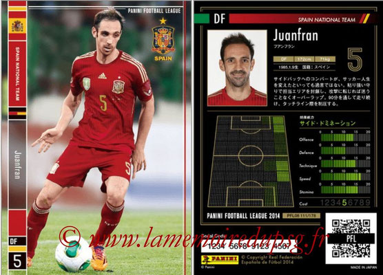 Panini Football League 2014 - PFL08 - N° 111 - JUANFRAN (Espagne)