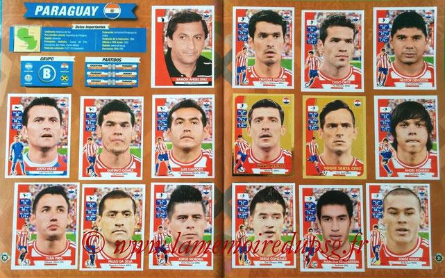 Navarette Copa America Chile 2015 Stickers - Pages 20 et 21 - Paraguay