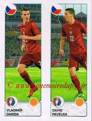 Panini Euro 2016 Stickers - N° 382 - Vladimir DARIDA + David PAVELKA (République Tchèque)