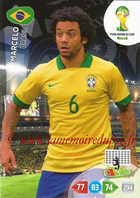 2014 - Panini FIFA World Cup Brazil Adrenalyn XL - N° 052 - MARCELO (Brésil)
