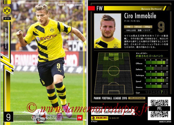 Panini Football League 2015 - PFL10 - N° 074 - Ciro IMMOBILE (Borussia Dortmund)