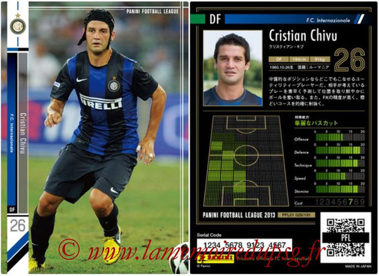 Panini Football League 2013 - PFL01 - N° 026 - Cristian Chivu ( F.C. Internazionale )