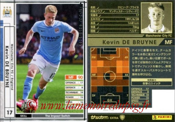 2015-16 - Panini WCCF - N° EXT28 - Kevin DE BRUYNE (Manchester City FC) (Extra)