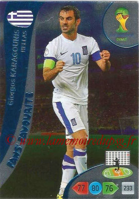 2014 - Panini FIFA World Cup Brazil Adrenalyn XL - N° 340 - Giorgos KARAGOUNIS (Grèce) (Fan's favorite)