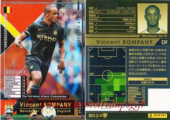 2013-14 - WCCF - N° BES2 - Vincent KOMPANY (Manchester City FC) (Belgian Superstars)