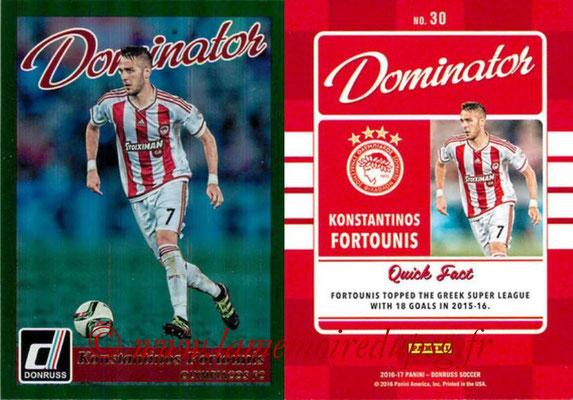 2016 - Panini Donruss Cards - N° D30 - Konstantinos FORTOUNIS (Olympiacos FC) (Dominator)