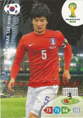 2014 - Panini FIFA World Cup Brazil Adrenalyn XL - N° 237 - Kwak TAE-HWI (Corée)