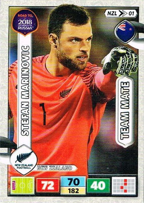 2018 - Panini Road to FIFA World Cup Russia Adrenalyn XL - N° NZL01 - Stefan MARINOVIC (Nouvelle-Zélande)