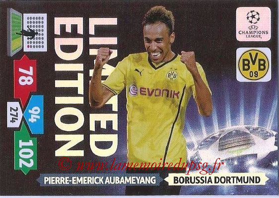 2013-14 - Adrenalyn XL champions League N° LE24 - Pierre-Emerick AUBAMEYANG (Borussia Dortmund) (Limited Edition)