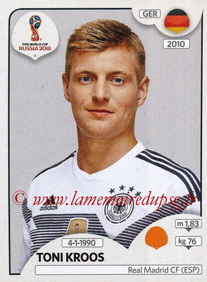 2018 - Panini FIFA World Cup Russia Stickers - N° 441 - Toni KROOS (Allemagne)