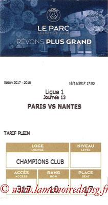 Tickets  PSG-Nantes  2017-18