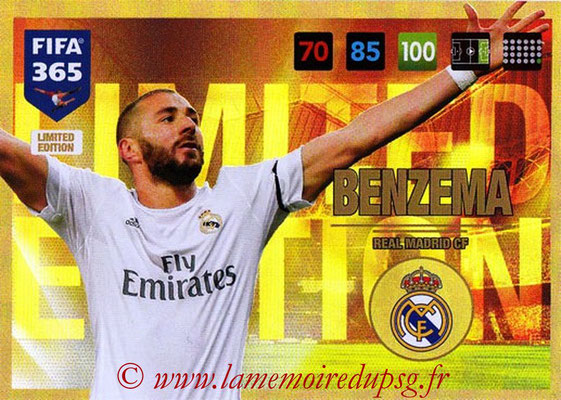 2016-17 - Panini Adrenalyn XL FIFA 365 - N° LE15 - Karim BENZEMA (Real Madrid CF) (Limited Edition)